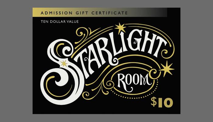 $10 Starlight Room Gift Card